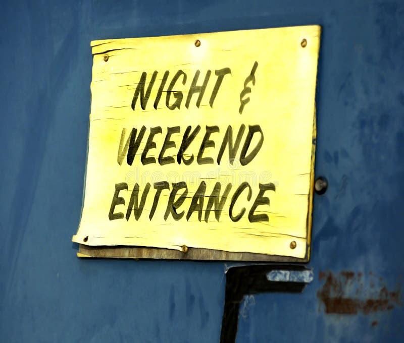 Entrada de la noche y del fin de semana fotos de archivo