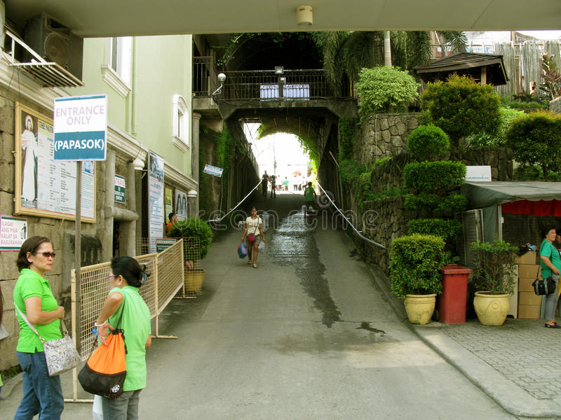 Entrada de la puerta, capilla nacional de la misericordia divina en Marilao, Bulacan fotos de archivo