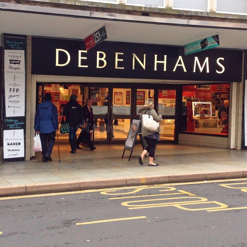 Entrada de la tienda de Debenhams fotos de archivo libres de regalías