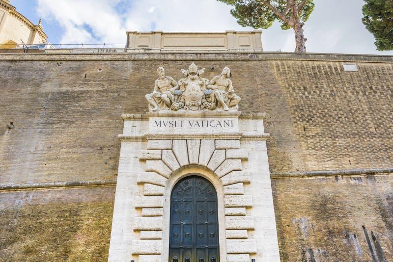 Entrada de los museos del Vaticano fotos de archivo libres de regalías