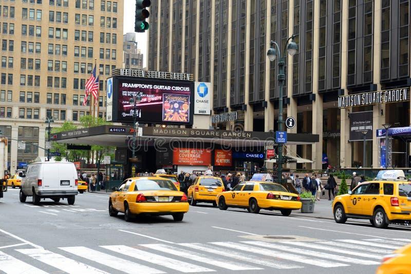 Entrada de Madison Square Garden, Manhattan foto de stock
