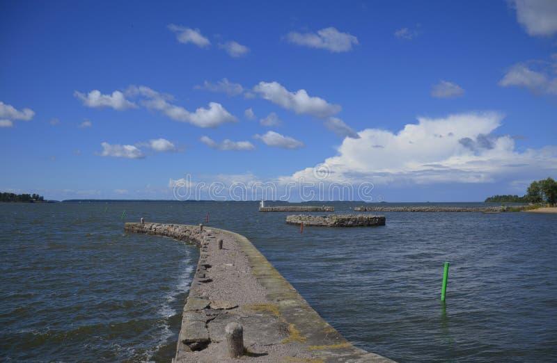 Entrada de porto em Sjötorp, Suécia imagens de stock royalty free