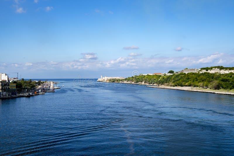Entrada de puerto, La Habana, Cuba imágenes de archivo libres de regalías