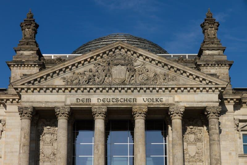 Entrada de Reichstag de Berlín imagen de archivo libre de regalías