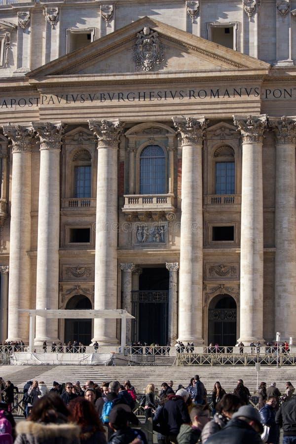 Entrada de San Pedro (Ciudad del Vaticano, Roma - Italia) imagen de archivo