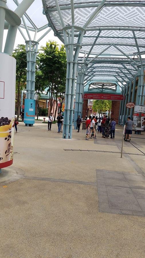 Entrada de Singapur de los estudios universales imagenes de archivo