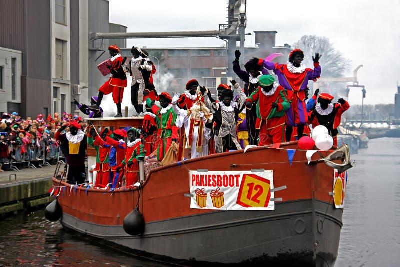 Entrada de Sinterklaas en Holanda foto de archivo