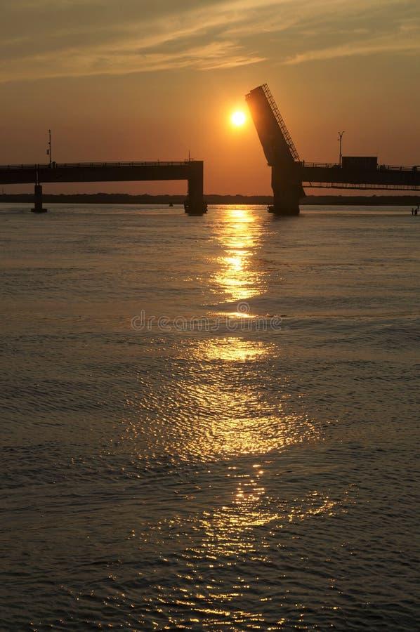 Entrada de Townsends en la puesta del sol foto de archivo libre de regalías