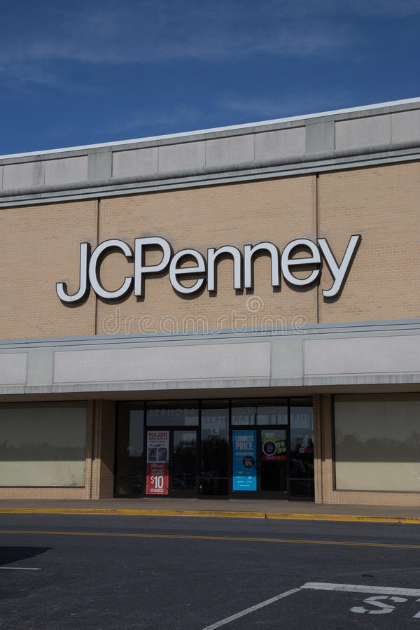 Entrada de uma loja da moeda de um centavo de J C fotos de stock royalty free