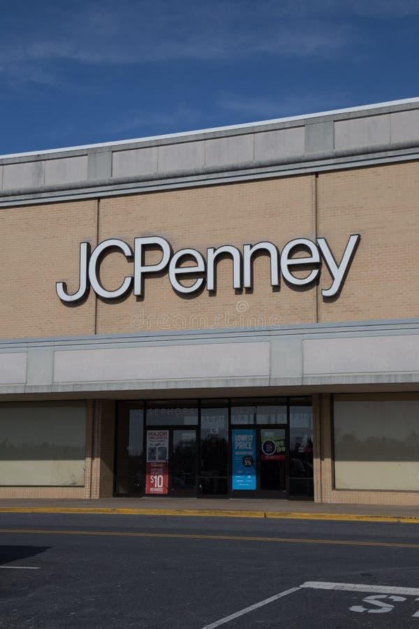 Entrada de una tienda del penique de J C fotos de archivo libres de regalías