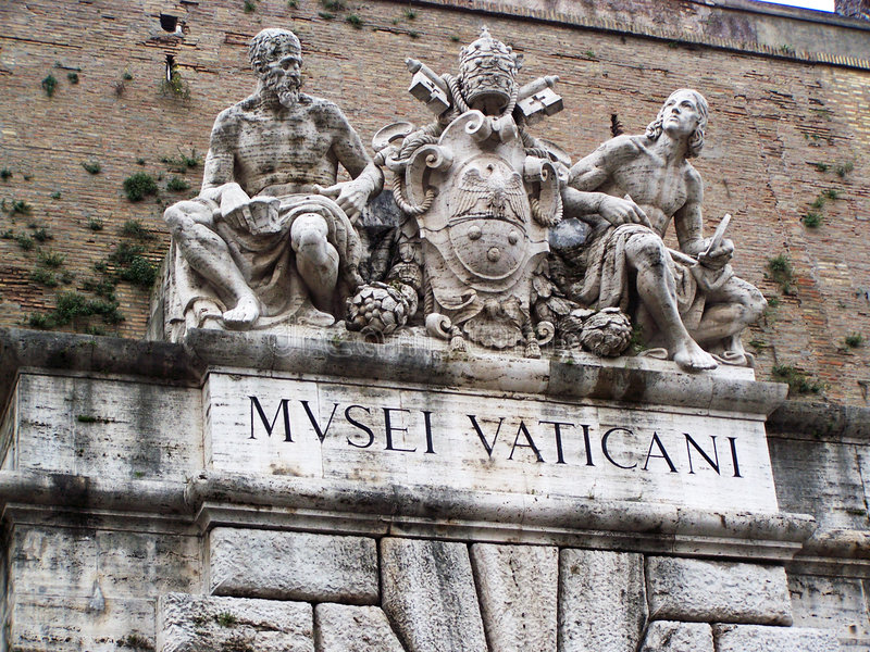 Entrada de Vatican imagens de stock