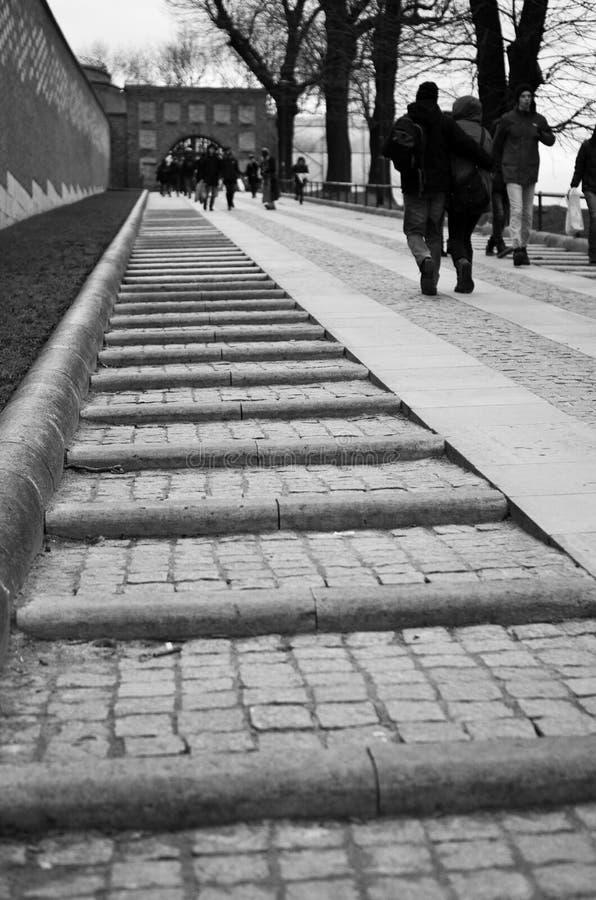 Entrada de Wawel, Polônia de Cracow imagem de stock