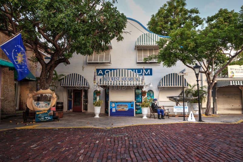 Entrada del acuario de Key West fotos de archivo