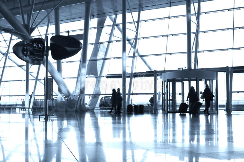 Entrada del aeropuerto imagenes de archivo