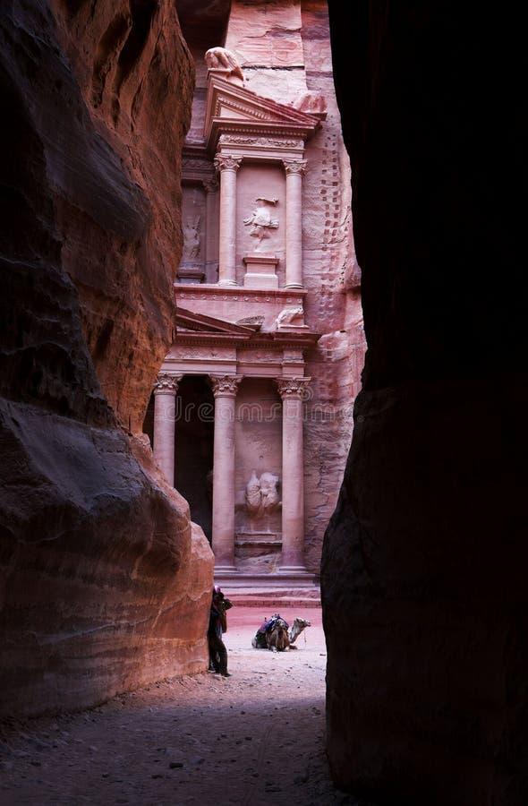 entrada del al-Siq al Petra imagen de archivo libre de regalías
