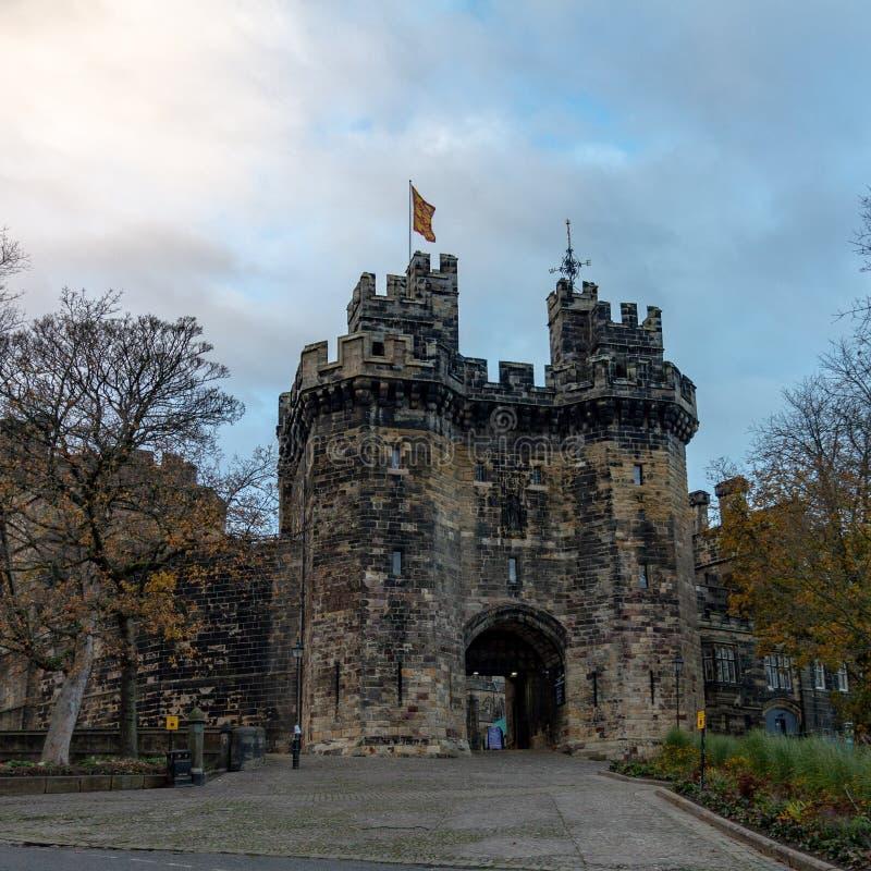 Entrada del castillo de Lancaster imagen de archivo libre de regalías