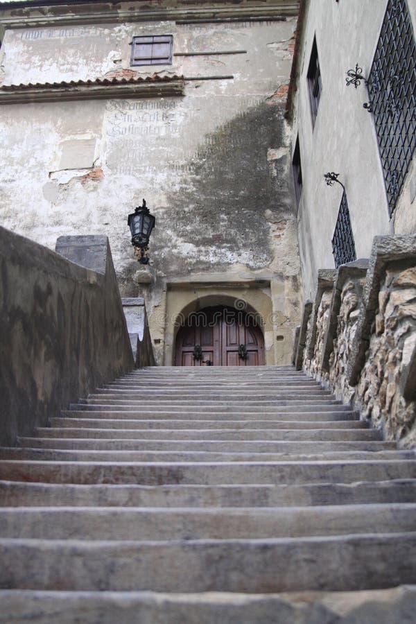 Entrada del castillo del ` s de Drácula imágenes de archivo libres de regalías