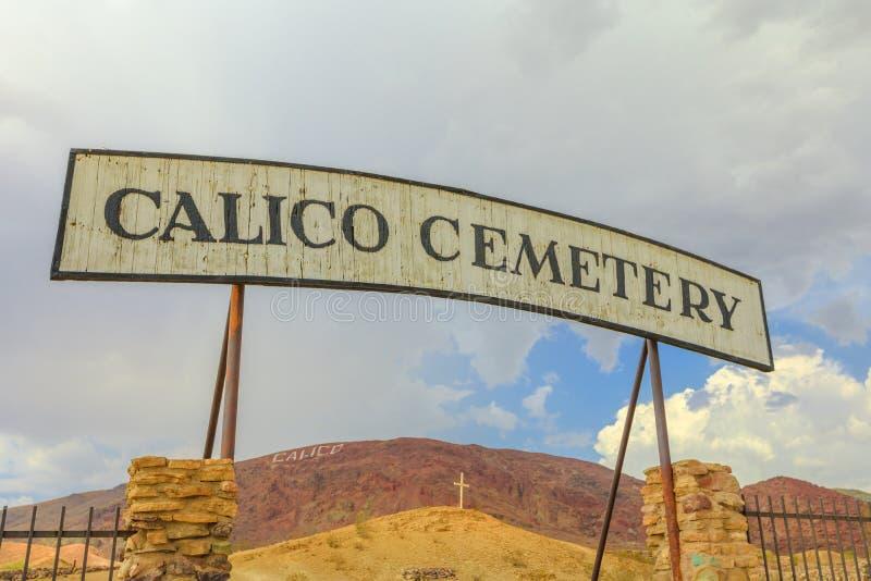Entrada del cementerio del calicó imagen de archivo libre de regalías