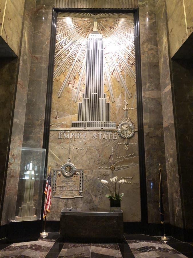 Entrada del Empire State Building fotografía de archivo