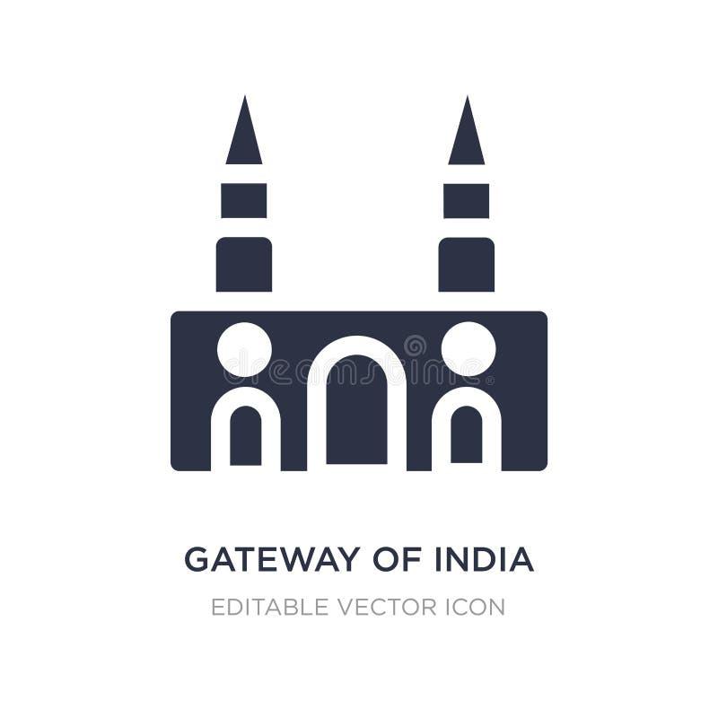 entrada del icono de la India en el fondo blanco Ejemplo simple del elemento del concepto de los monumentos stock de ilustración