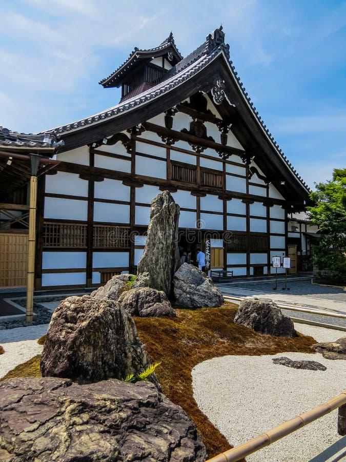 """Entrada del ji de TenryÅ """"-, Dragon Zen Temple divino en Kyoto, Japón imagen de archivo libre de regalías"""