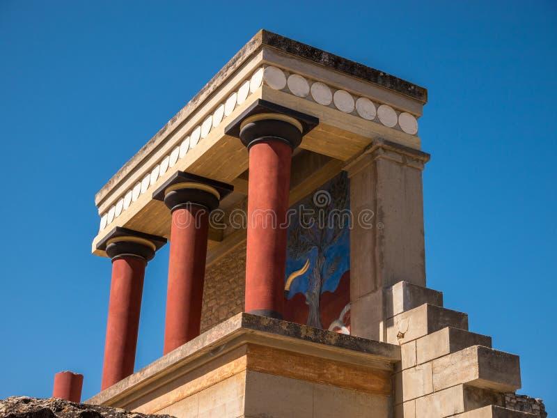 Entrada del norte Creta Grecia del palacio de Knossos imagen de archivo