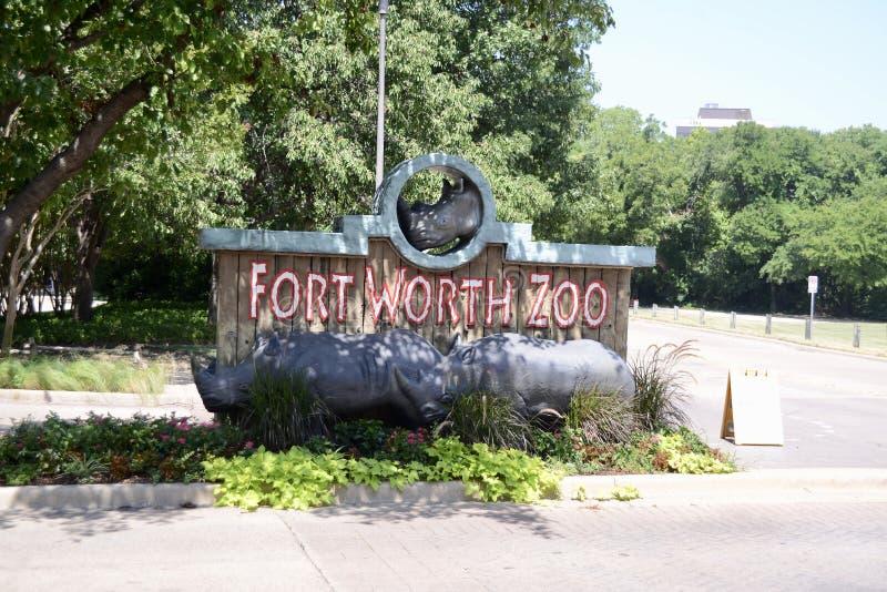 Entrada del parque zoológico de Fort Worth, Fort Worth, Tejas imagen de archivo