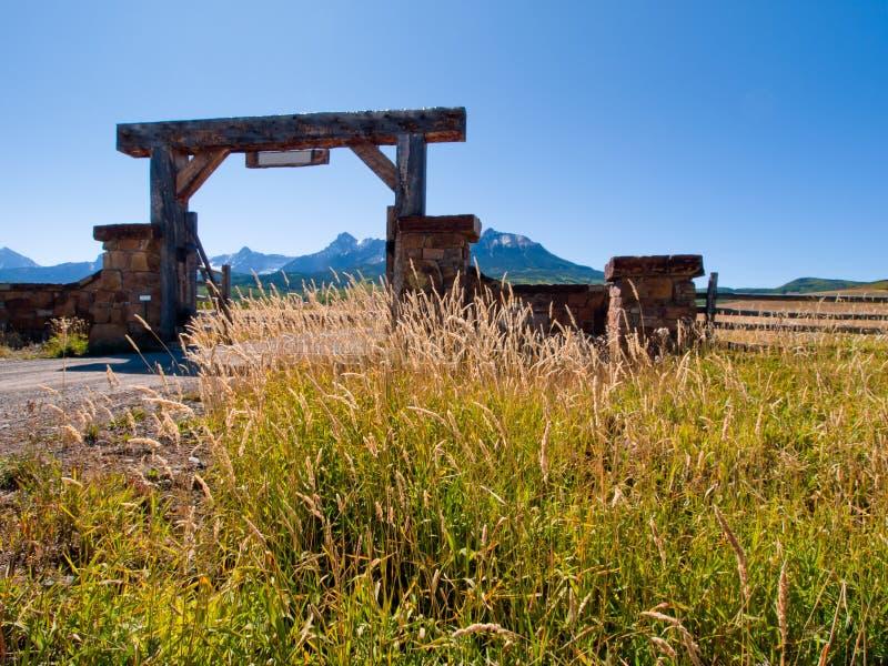 Entrada del rancho foto de archivo libre de regalías