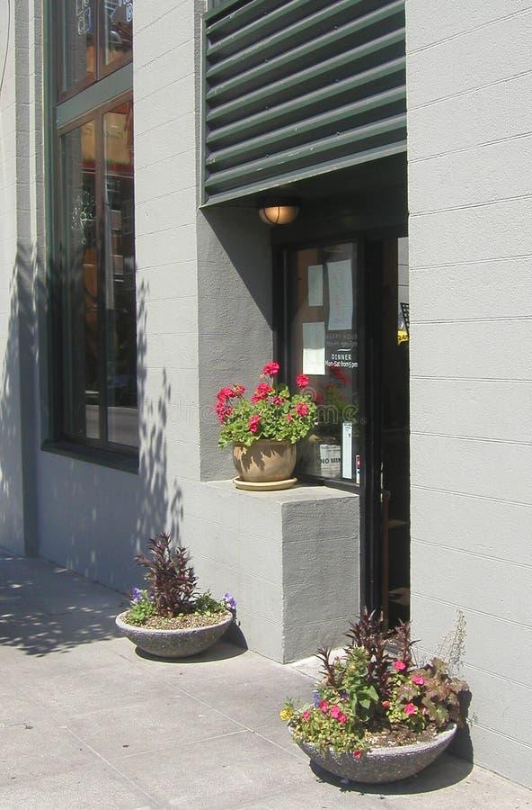 Entrada Del Restaurante Imagenes de archivo