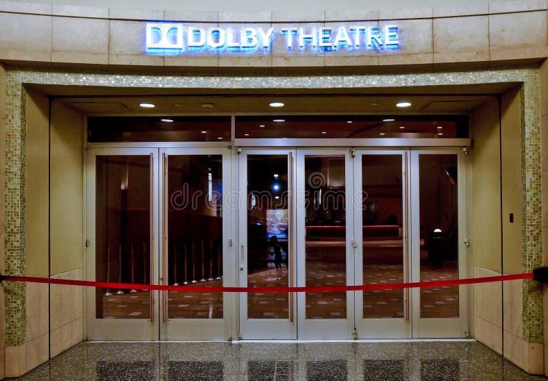 Entrada del teatro Dolby en hollywood fotografía de archivo