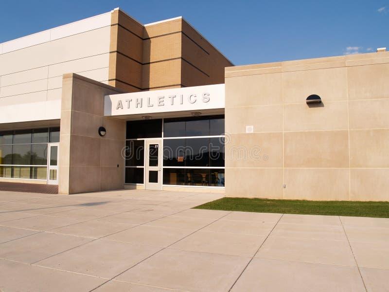 Entrada do atletismo para uma escola imagens de stock royalty free