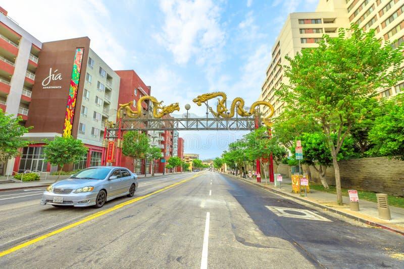Entrada do bairro chinês de Los Angeles imagem de stock royalty free