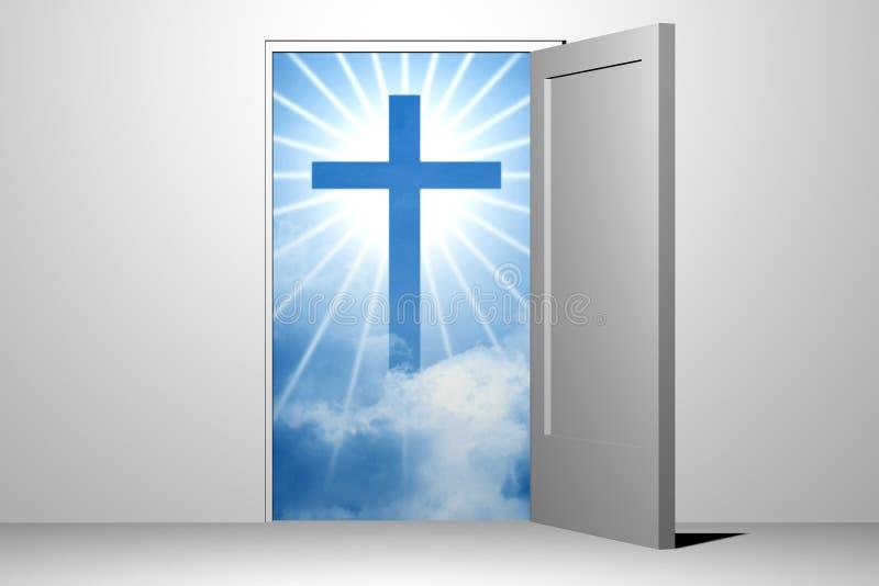 Entrada do céu do deus ilustração stock