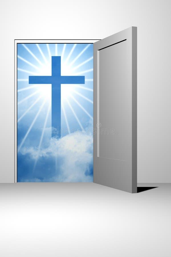 Entrada do céu do deus ilustração do vetor