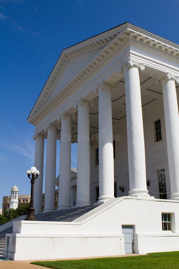 Entrada do Capitólio do estado de Virgínia imagem de stock