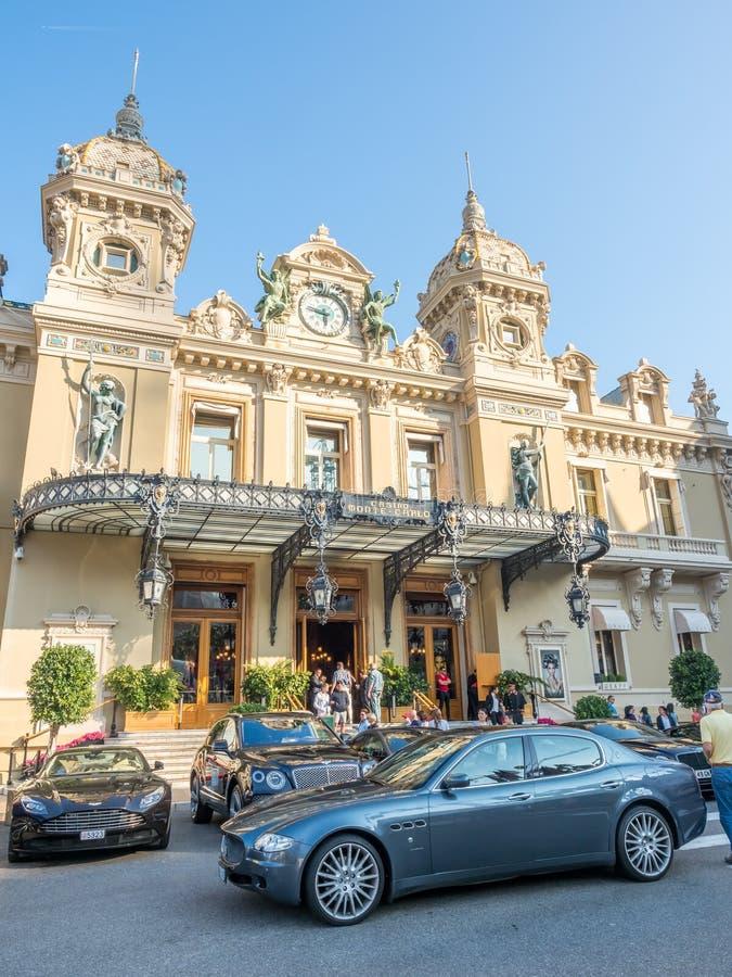 Entrada do casino Monte - Carlo, Mônaco fotografia de stock royalty free