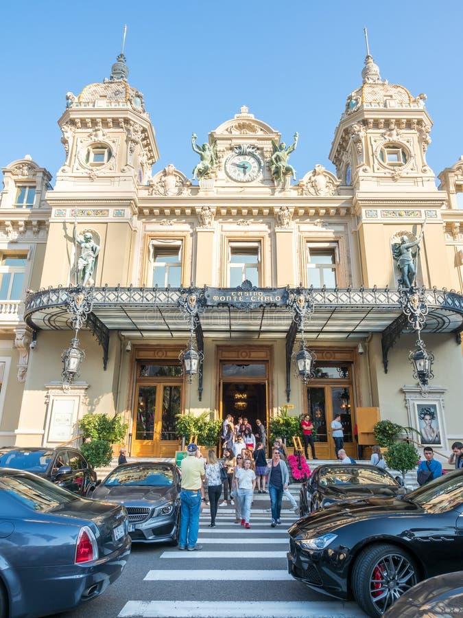 Entrada do casino Monte - Carlo, Mônaco imagens de stock