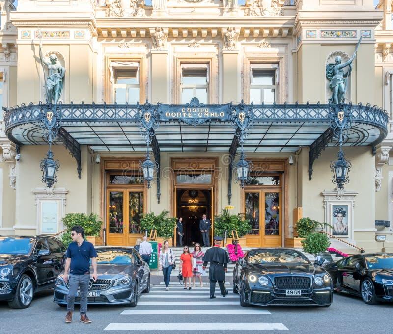 Entrada do casino Monte - Carlo, Mônaco foto de stock royalty free