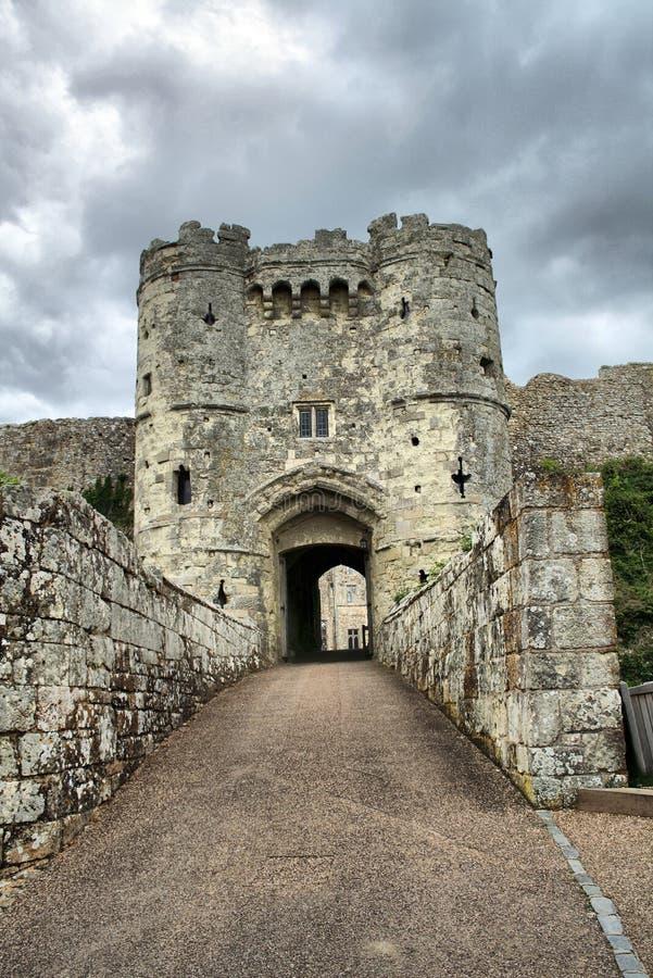 Entrada do castelo imagens de stock
