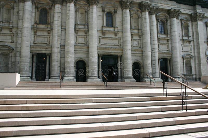 Entrada do edifício histórico fotografia de stock