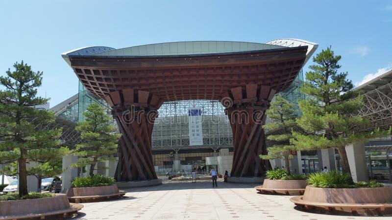 Entrada do estação de caminhos-de-ferro de Kanazawa imagens de stock