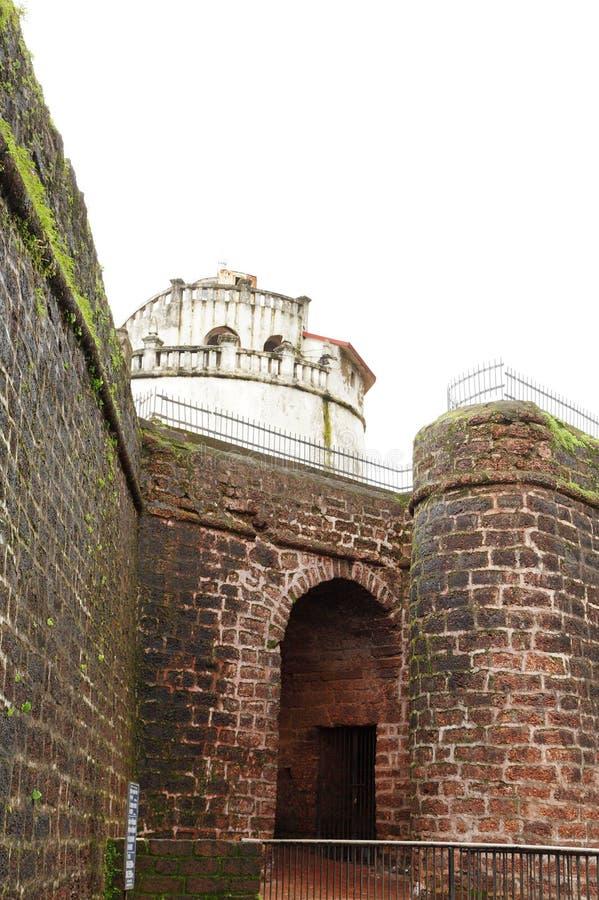 Entrada do forte de Aguada foto de stock