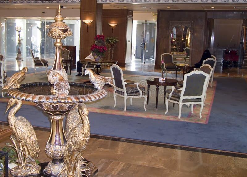 Entrada do hotel fotografia de stock