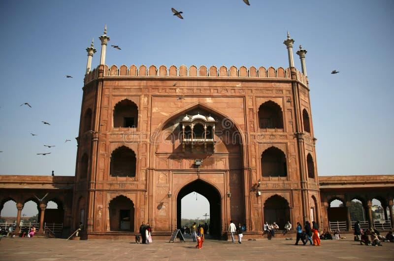 Entrada do Jama Masjid, Deli fotos de stock royalty free