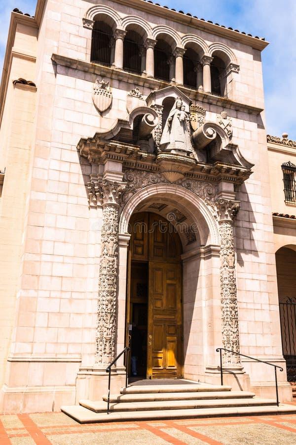 A entrada do monastério carmelita em San Francisco imagem de stock