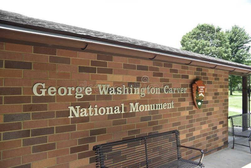 Entrada do Monumento Nacional George Washington Carver fotos de stock royalty free