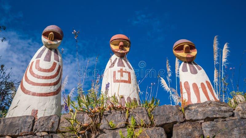Entrada do museu da mamã em Leymebamba, Peru fotos de stock royalty free