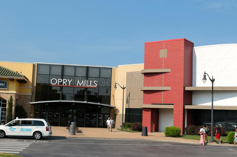 Entrada do Opry Mills Mall, Nashville, Tennessee fotografia de stock