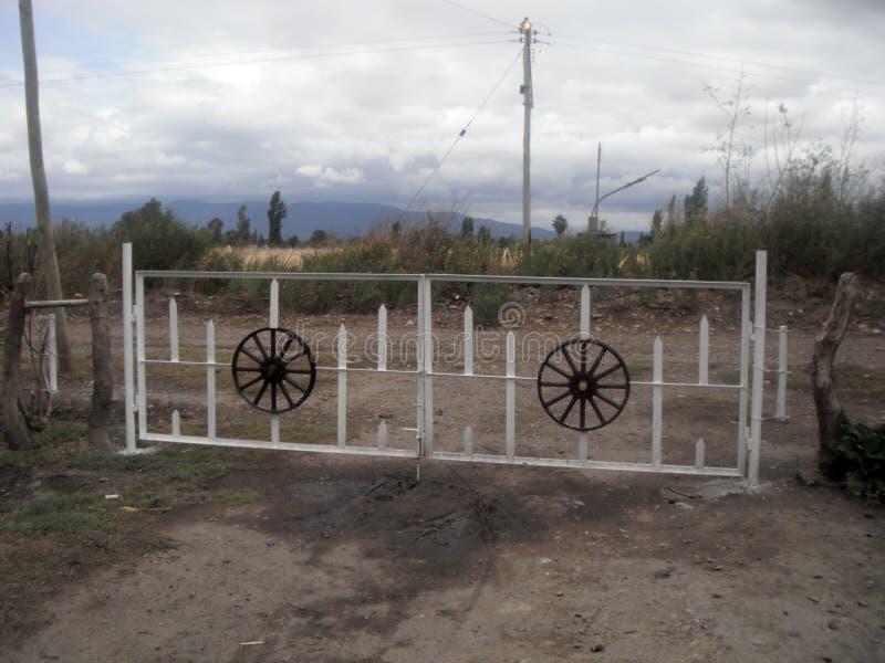 Entrada do país do rancho de Argentina foto de stock