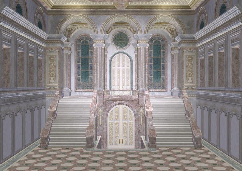 Entrada do palácio ilustração stock